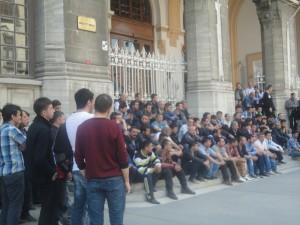 Sirkeci büyük postane önündeki protestodan